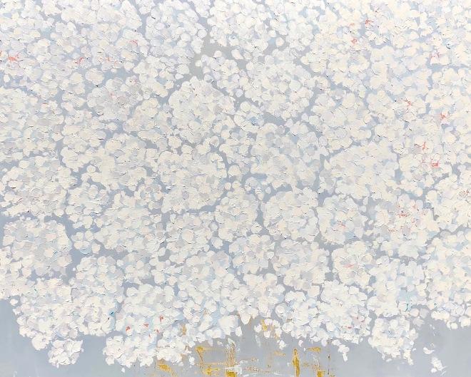 Palest White Hydrangea 48x60 SOLD